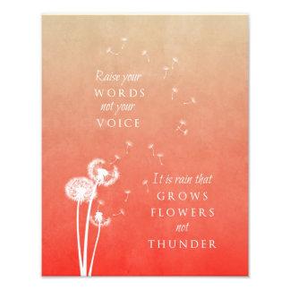 Dandelion art print - Raise your words