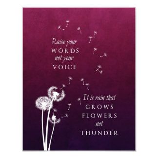 Dandelion Art - Raise your words Photo Print