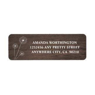 Dandelion Barn Wood Rustic Wedding Address Labels