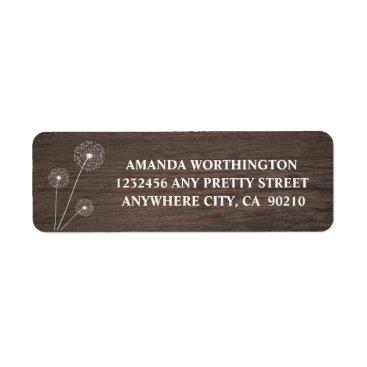 rusticweddings Dandelion Barn Wood Rustic Wedding Address Labels