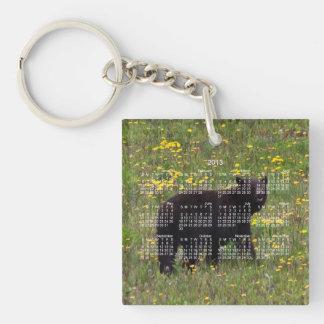 Dandelion Bear; 2013 Calendar Keychain