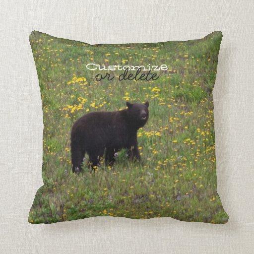 Dandelion Bear; Customizable Pillows