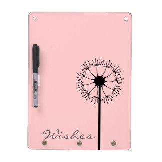 Dandelion Black Floral Dry-Erase Board
