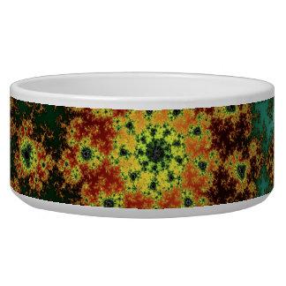 Dandelion Bloom - oriental fractal design Bowl