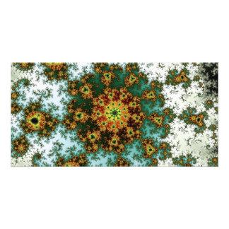 Dandelion Bloom - oriental fractal design Card