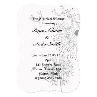 Dandelion Blossoms Vines Romantic Wedding Shower Card
