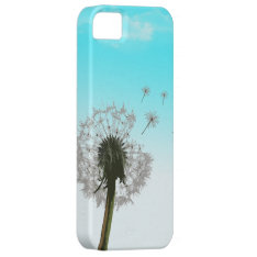 Dandelion Blowing, Seeds Scattering Iphone 5 Case at Zazzle