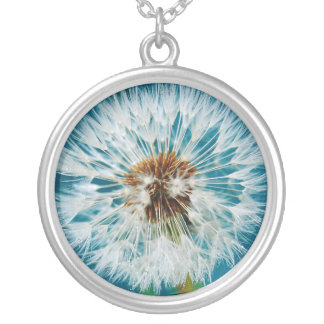 Dandelion Blue Necklace