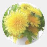 Dandelion Bouquet Classic Round Sticker