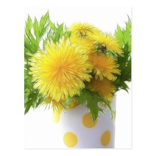 Dandelion Bouquet Post Cards