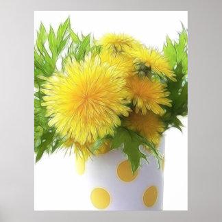 Dandelion Bouquet Print