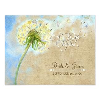 Dandelion Breeze Linen Burlap Wish Fulfilled Cards