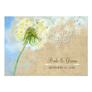 Dandelion Breeze Linen Burlap Wish Fulfilled Cards