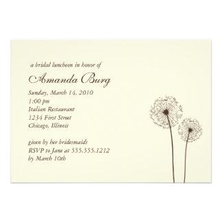 dandelion bridal shower invitation