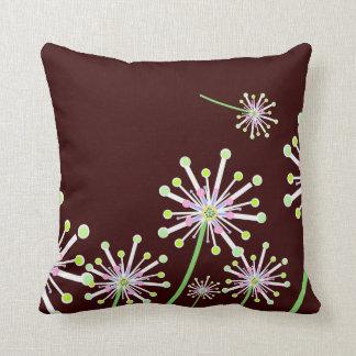 Dandelion Bubble Flowers Throw Pillow