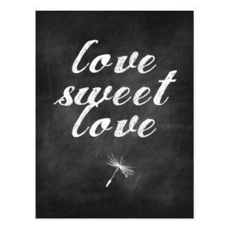 Dandelion Chalkboard Love RSVP Postcard
