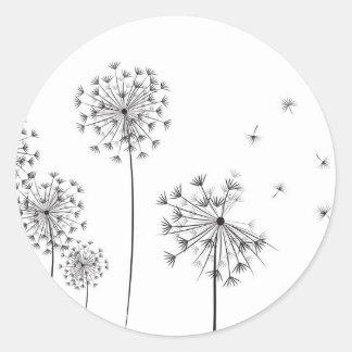 Dandelion Classic Round Sticker