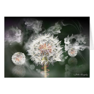 Dandelion Clock Card