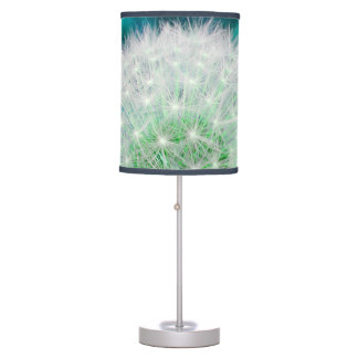 Dandelion Clock lamp in turquoise and blue