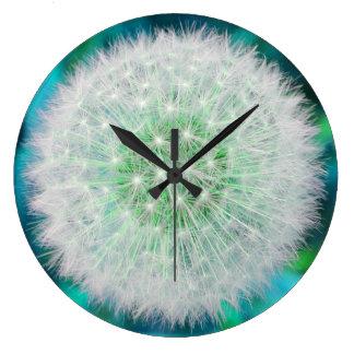 Dandelion clock seedhead in turquoise