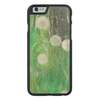 Dandelion Clocks in Grass 2008 oil on canvas Carved Maple iPhone 6 Case