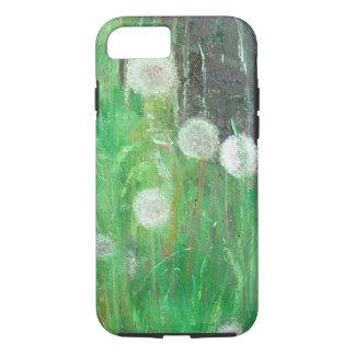 Dandelion Clocks in Grass 2008 oil on canvas iPhone 8/7 Case