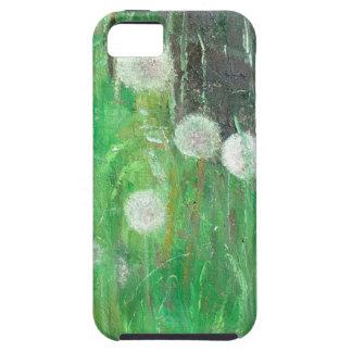 Dandelion Clocks in Grass 2008 oil on canvas iPhone SE/5/5s Case