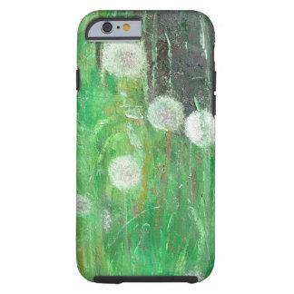 Dandelion Clocks in Grass 2008 oil on canvas Tough iPhone 6 Case