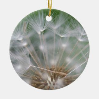 Dandelion Close Christmas Ornament
