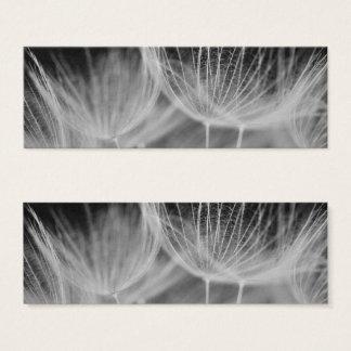 Dandelion Closeup in Black White Mini Business Card