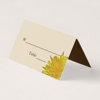Dandelion Country Wedding Place Card Reception