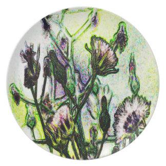 Dandelion Design by Carole Tomlinson©2016 Plate