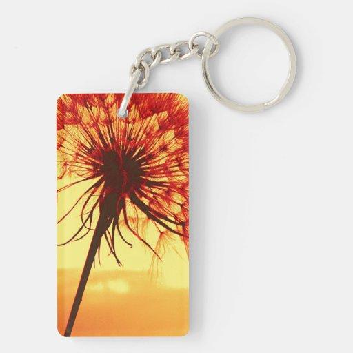 dandelion Double-Sided rectangular acrylic keychain
