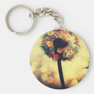 dandelion dreams basic round button keychain