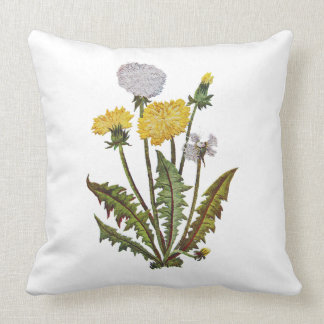 Dandelion Faux Embroidery Pillow