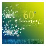 Dandelion Field 60th Wedding Anniversary Party Custom Invitations