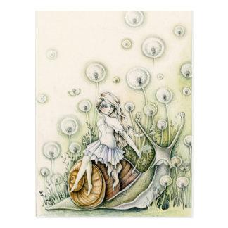 Dandelion Field - Postcard