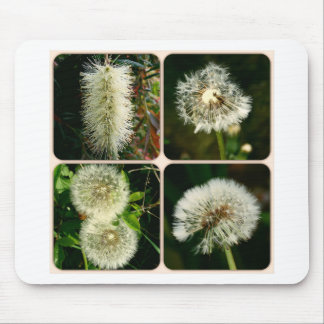 Dandelion Flower Collage Mousepads