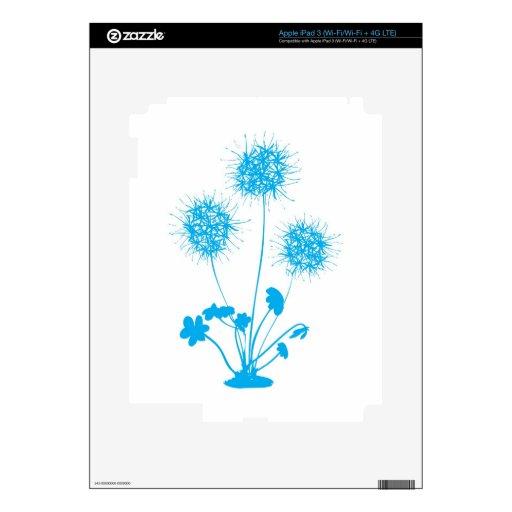 dandelion flower design iPad 3 decals