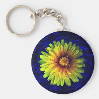 Dandelion flower keychain