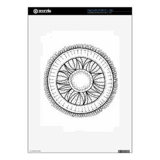 dandelion flower mandala iPad 2 decals