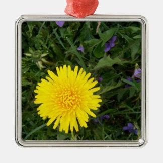 Dandelion flower metal ornament
