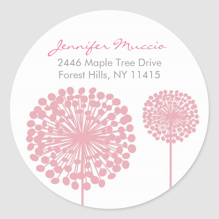 Dandelion Flower Return Address Labels Stickers