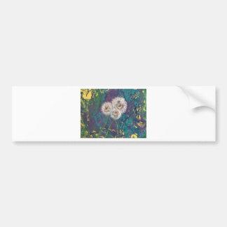 dandelion fluff bumper sticker