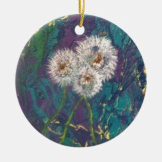 dandelion fluff ornament