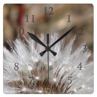 Dandelion Fluff Square Wall Clock