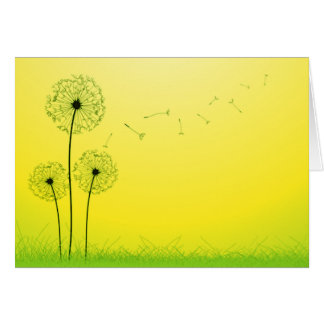 Dandelion Fly Away Card