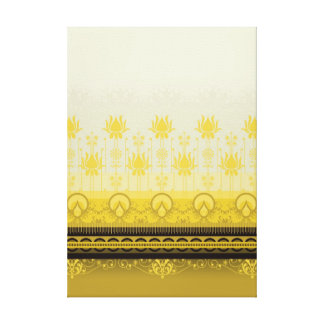 Dandelion - geometric pattern on canvas gallery wrapped canvas