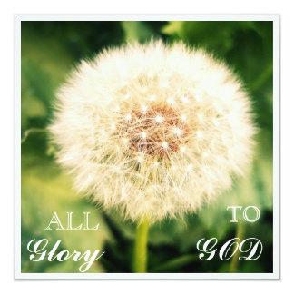 Dandelion Glory Postcard Invitation