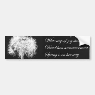Dandelion Haiku Bumper Sticker